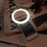 White Rechargeable Selfie LED Ring Camera Fill Light for iPhone for Android~~ - Walmart.com