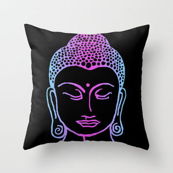 Buddha Glow Throw Pillow by Regal Rebel Designs | Society6