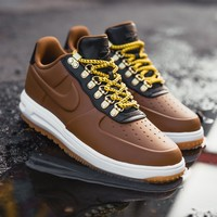 kuyou Lunar Force 1 Duckboot Low - Ale Brown/Ale Brown-Black