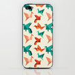 teal paper cranes iPhone & iPod Skin by Nicole Martinez