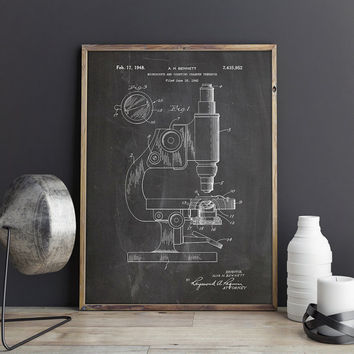 Chemistry Decor,Chemistry Patent,Microscope Poster,Microscope Patent,Microscope Print,Chemistry Poster,Science Student Gift,INSTANT DOWNLOAD