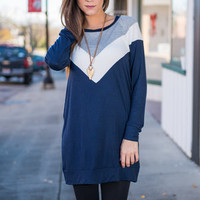 Point Of Confident Tunic, Navy