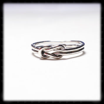 Sterling Silver Love Knot Ring - 16 gague