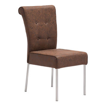 Zuo Modern Ringo Dining Chair in Distressed Brown