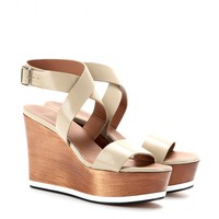givenchy - liloo leather wedge sandals