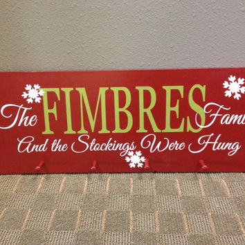 Personalized Stockings Were Hung Holiday Hanger
