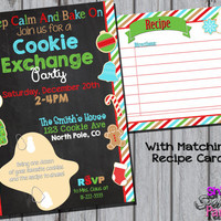 COOKIE EXCHANGE INVITATION - Cookie Exchange Party Invite - Christmas Cookie Swap - Christmas Party - Holiday Party Christmas Baking Party
