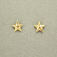 Tiny 10 mm Star Magnetic Earrings in Gold or Silver