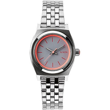 Nixon A399-1764 Ladies The Small Time Teller Silver Neon Pink Watch