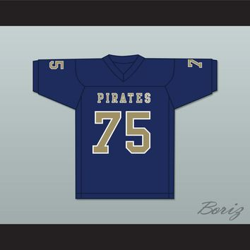 Kerry Buckmaster 75 Independence Community College Pirates Dark Blue Football Jersey