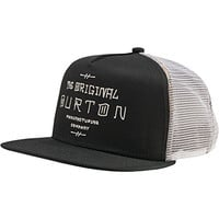 BURTON Men's I-80 Snapback Trucker Hat, One Size, True Black