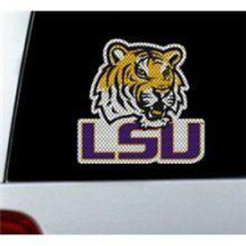 LSU Tigers CAT Auto Window Film Decal NEW Football Louisiana State University