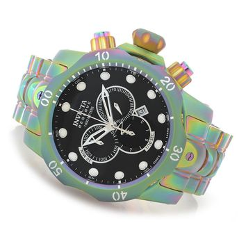 Invicta Reserve 52mm Venom Swiss Made Quartz Chronograph Iridescent Stainless Steel Bracelet Watch evine.com
