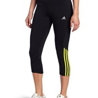 adidas Women's Response Drei Streifen Three-Quarter Tight