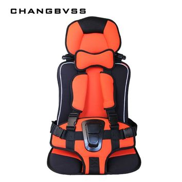 Portable Baby Chairs Cushion Travel Toddler Safety Mat Children Protect Sitting Cushions with Safety Belt Infant Booster Mat