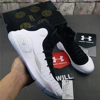 "Under Armour Curry 4 ""Black/White"" Basketball Shoes"