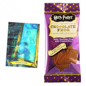 Harry Potter Chocolate Frog with Collectable Wizard Card 0.55 OZ (15g)