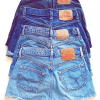 ALL SIZES Vintage Plain LEVI'S Denim Shorts