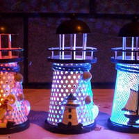 2015 Hot-selling Mediterranean-style lighthouse wrought iron Candlestick Candle holder Home decoration