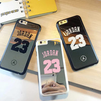 Coque for iPhone 6 6s 6 plus 5s 5 case bulk back cover NBA brand Michael Jordan 23 funda carcasa capa coque hard mirror cases