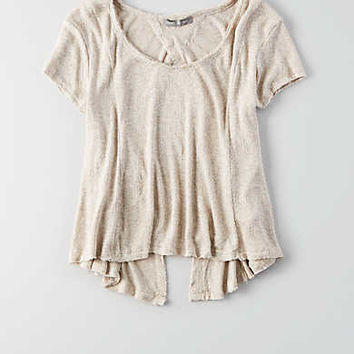 Don't Ask Why Open Back Sweater T-Shirt, Natural