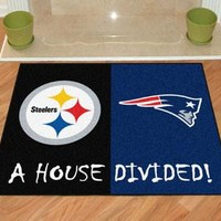 House Divided - Steelers / Patriots House Divided Mat