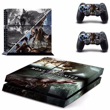 Monster Hunter World Vinyl PS4 Skin Sticker for Sony playstation 4 Console and Controller