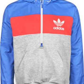 Adidas Colorblock Felpa med.grey heather/aero red