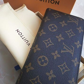 DCCKIN2 Authentic LOUIS VUITTON Monogram Brown Canvas Wallet