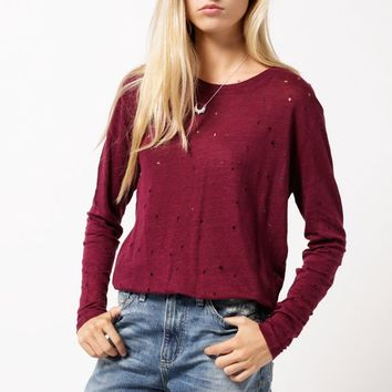 Marvina L/S Holey Tee