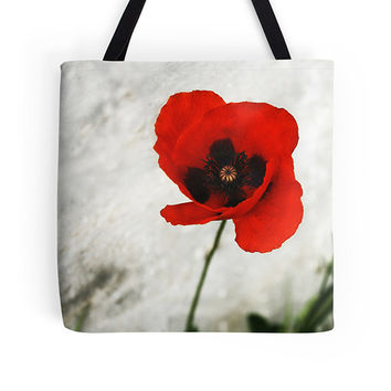 Poppy bag, poppy tote, floral tote, flower bag, market bag, shopping bag, everyday bag, grocery bag, women's tote, book tote, pretty bag