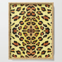 Leopard print Serving Tray by savousepate