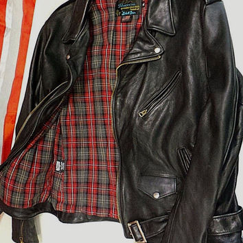 Schott NYC Perfecto Leathers PER- 2 Vintaged SteerHIDE Jacket Made In USA NWT