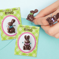CHOCOLATE EASTER BUNNY RING