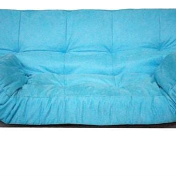 The College Cozy Sofa (Mini-Futon) - Aqua