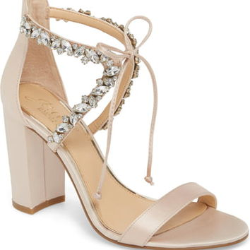 Jewel Badgley Mischka Thamar Embellished Sandal (Women) | Nordstrom