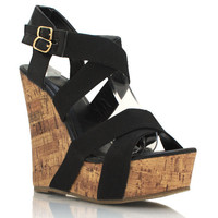 strappy-wedges BLACK CHAMPAGNE - GoJane.com