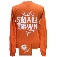 New South Carolina Clemson Tigers Small Town Girl Girlie Bright Long Sleeves T Shirt