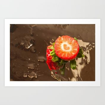 Strawberry love Art Print by anabprego