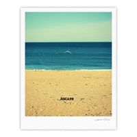 "Robin Dickinson ""Escape"" Beach Sand Fine Art Gallery Print"