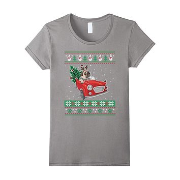 Pug Dog Ugly Christmas Xmas Funny Gift T-Shirt
