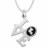 Louisiana Love Necklace in Solid Sterling Silver