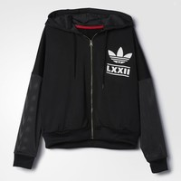 adidas Berlin 3-Stripes Hooded Track Jacket - Black | adidas US