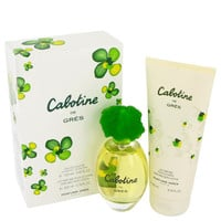 CABOTINE by Parfums Gres Gift Set -- 3.4 oz Eau De Toilette Spray + 6.7 oz Body Lotion