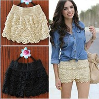 LACE ME ALL OVER SUMMER SHORTS