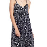 Aztec Geo Printed Trapeze Slip Dress
