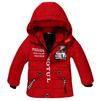 Winter Hot Sales New Boy Thickening Hooded Jacket Children's Fashion Coat Boy Warm Jacket Baby Boy Zipper Outerwear Kids Clothes
