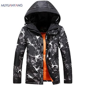 2016 Winter Jacket Men Casual Duck Down Jacket Warm Snow Coat High Quality Hooded Fatigues OverCoats Plus Size 3XL 2XL