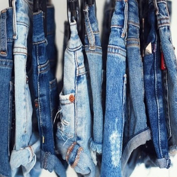 Mystery Shorts:Denim Hipster Made To Order Distressed Grunge Shorts! All Sizes!