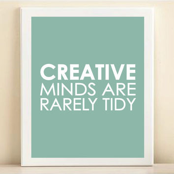 Blue Creative Minds print poster by AmandaCatherineDes on Etsy